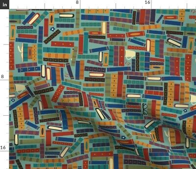 Books Reading Literature School Learning Fabric Printed by Spoonflower BTY