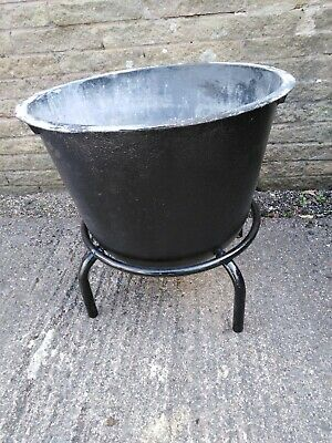 Vintage  Cast Iron Garden Pot / Planter