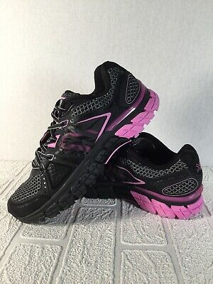 KARRIMOR RUN D30 Size 5 UK Black Pink Keep Fit Gym Workout Trainers rrp £159.99