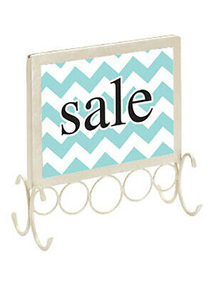 "Boutique Ivory Countertop Sign Holder - 7 1/4"" X 7"""