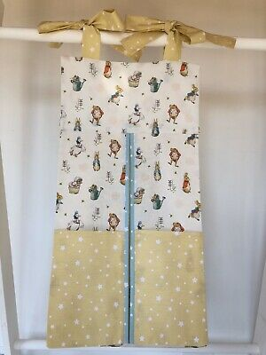 Handmade Peter Rabbit Nappy Stacker for a Girl or Boy. Ideal Baby Gift.