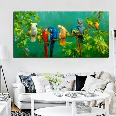 Parrots Animal Painting Canvas Painting Wall Art Prints Wall Poster Home Decora