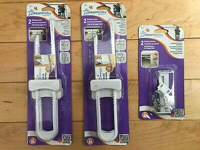 Dreambaby Sliding Locks (2 sets) and Dreambaby Safety Catches (1 set)