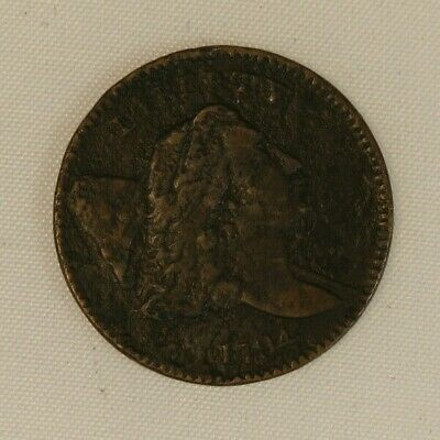 1794 Flowing Hair Liberty Cap Half Cent Copper. Nearly very fine details LE