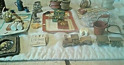 Lot Of Doll House/Miniature Furnishings & Decor