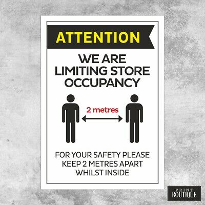 Covid Corona Poster PACK OF 5 for shops Social Distancing Sign