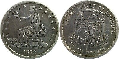 1878-S $1 Silver Trade Dollar Very Fine Details Cleaned
