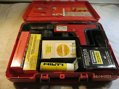 hilti dx 350 powder actuated fastener gun- case and extras