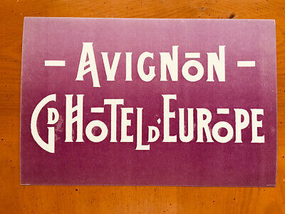 Hotel Luggage Label | Grand Hotel Europe Avignon France | Large MINT Label
