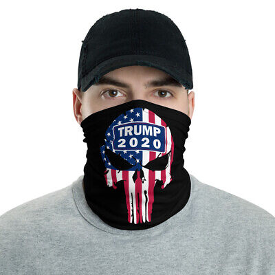 New Trump 2020 Face Mask Neck Gaiter Unisex Black One Size Fits All Washable