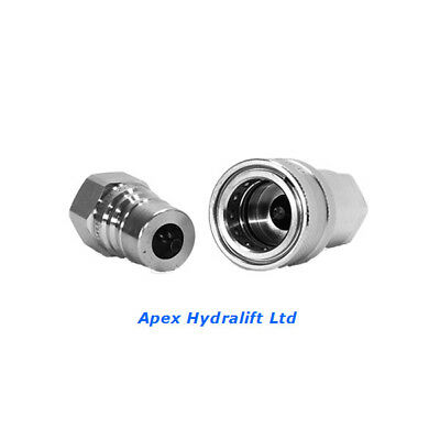 """Holmbury ISOA Hydraulic Coupling Quick Release BSP Thread(1/4""""-1"""") 1 set"""