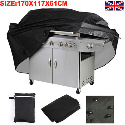 170X117CM Extra Large BBQ Cover Waterproof Garden Heavy Duty Barbecue Grill UK