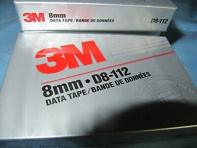6 x 3M Data Tape 8mm-D8-112 Factory Sealed