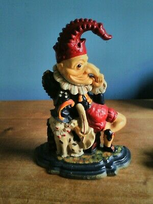 Hand Painted Mr Punch Cast Iron Door Stop