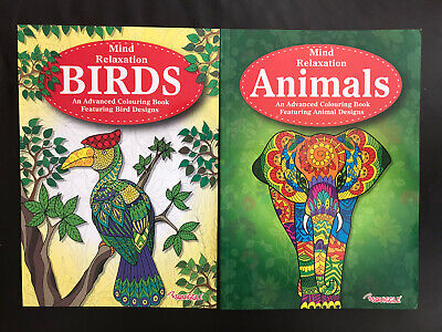 Adult Colouring Books Patterns Flowers Mindfulness Stress Animals Fun Drawing