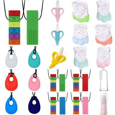 Autism Adhd Silicone Necklace Baby Teething Teether Chew Chewy Chewie Sensory