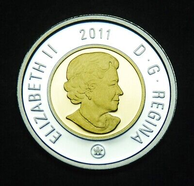 "2011 silver proof ""toonie"" from celebrating 100 years of Parks Canada set"