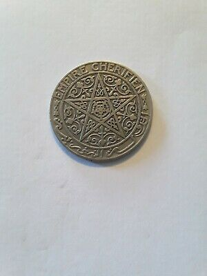 1921 Morocco Uncertified Circulated 1 Franc Coin  XF Condition A49