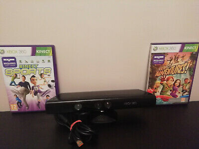 Kinect Sensor For Xbox 360 With Games Kinect Adventures! And Kinect Sports