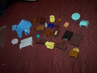 DOLL HOUSE FURNITURE lot Very Nice!!! Antique Vintage Minature furniture LOOK!