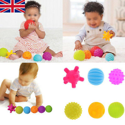 6 Pcs Baby Soft Massage Sensory Toys Educational Puzzle Ball Bath Sound Toys