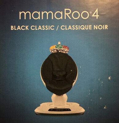 4Moms Mamaroo 4 Infant Reclining Seat Rocker Bouncer Bluetooth 4.0 Black Classic