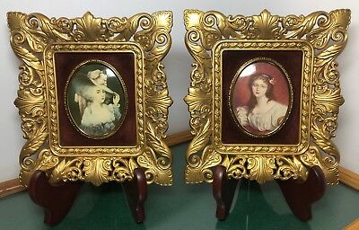 Antique Cameo Creation~Cecile Volage & Elizabeth Duchess of Devonshire~Lot of 2
