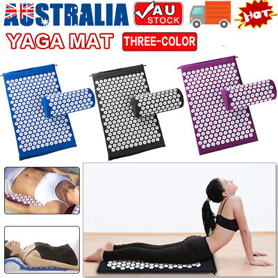 Massage Acupressure Mat Yoga Shakti Sit Lying Mats Cut Pain Stress Soreness NEW