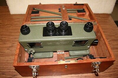 """""""Rare"""" OLD DELFT SCANNING STEREOSCOPE - For Military Interpretation And Mapping"""
