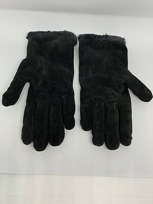 Aris 115 Genuine Leather Gloves - Size Large - Suede - Black