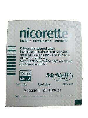 Brand New Nicorette Invisi Patch 15mg Step 2 One Patch