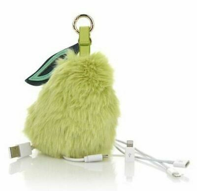 Under One Sky Faux Fur Pompom Portable charger/Keychain Color Green (Pear)