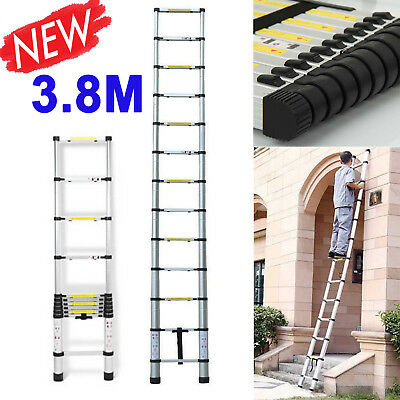 12.5ft 3.8MPortable Extension Aluminum Telescopic Collapsible lightweight Ladder