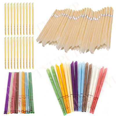 16PCS Scented Beeswax Candle Cleaning Hearing Cones Straight Hollow Wax Ear Dics