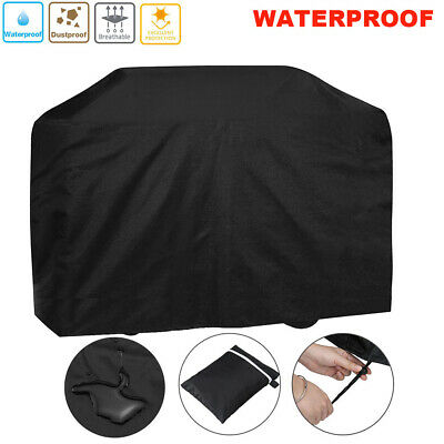Large Black 170cm Heavy Duty BBQ Cover Waterproof Barbecue Patio Grill Protector