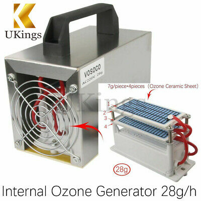 28g/h Ozone Generator 28g Ozone Machine Purifier Air Cleaner Disinfection Clean