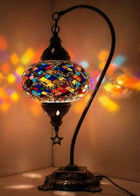 10 Colors Turkish Moroccan Mosaic Colorful Swan Table Bedside Lamp Lampshade