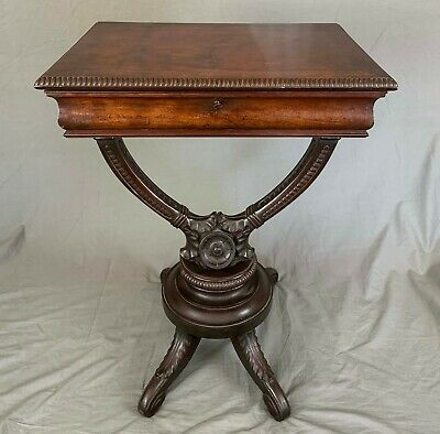 Early 19th Century Mahogany Work Table by Henry Thomas Peters 1792-1852 Genoa