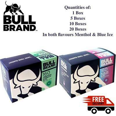 NEW Bull Brand Menthol or Blue Ice Capsule Crushball Flavoured Filter Tips BOXED