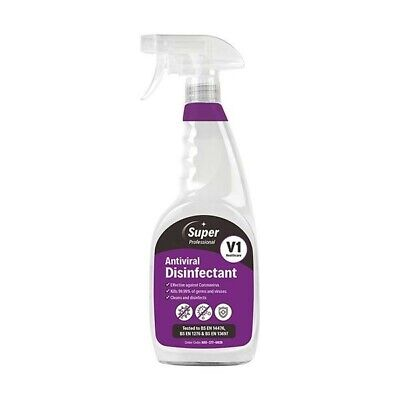 Super Anti Viral Disinfectant 750ml Pack of 6. Next Day Delivery **Look**