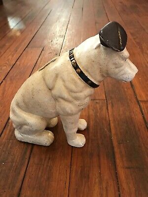 Large Nipper Dog Cast Iron Coin Bank