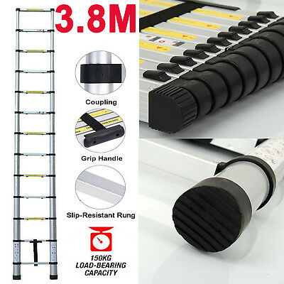 Portable Safety Extension Ladder Aluminum Single-sided Straight Ladders 13 steps