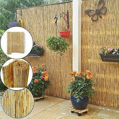 Natural Peeled Reed Screening Roll Garden Privacy Screen Fence 4meter Wide Panel