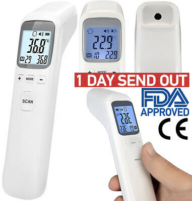 Infrared Non Contact Forehead Body Thermometer Temperature Gun Baby Adult CE FDA