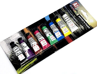 ARTIST PAINT WATERCOLOUR SET Artist Art Craft Kids Activity Home School 8 x 10ml
