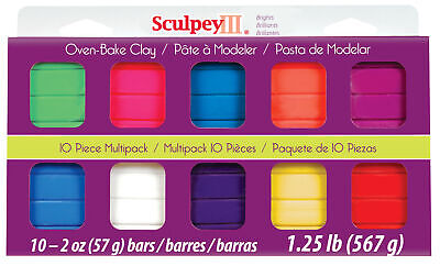 Polyform S3Mp 0500-1 Sculpey Iii S3Mp05001 Polymer Clay Multipack Bright