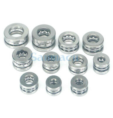I/D 10mm To 30mm Axial Ball Thrust Bearing Set(2 Steel Races + 1 Cage) ABEC-1