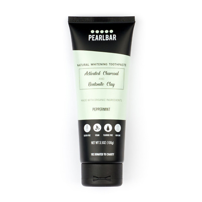 PearlBar Activated Charcoal Fluoride Free Natural Whitening Toothpaste (Vegan)