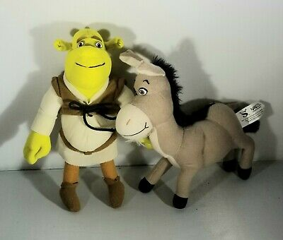 Vintage 2004 Nanco Shrek 2 Plush Lot (2) 9""