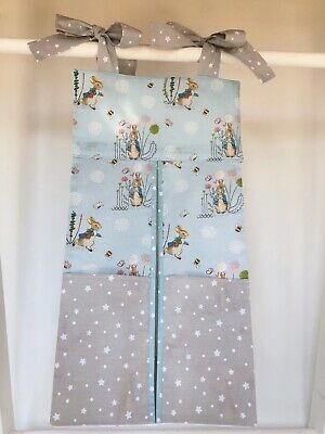 Handmade Peter Rabbit Nappy Stacker for a Boy or Girl. Ideal Baby Shower Gift.